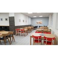 židle Lof 4230 VS v jídelně nemocnice Benešov
