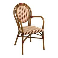 židle Lucca A Dark beige/bordeaux s područkami