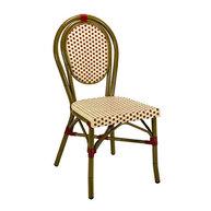 židle Lucca Dark s výpletem beige/bordeaux