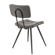 židle Maurice v antracitové kožence