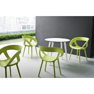 židle Moema BP Green se stolem Stefano