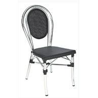 židle Paris Textylene black / aluminium