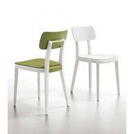 židle Porta Venezia kombinace buk/plast