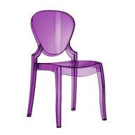 židle Queen ve fialovém transparentním provedení