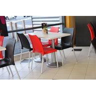 židle Tulip a stoly s podnoží CLUB 012/400
