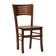 židle Verona masiv tmavě hnědá