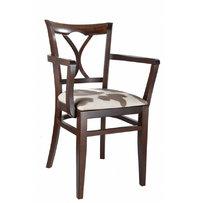 Židle - dřevěná židle Laura 810 s područkami