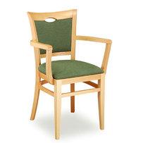 Židle - dřevěná židle Sara 812 s područkami