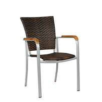 Zahradní nábytek - židle - křeslo Baja Silver Leather look