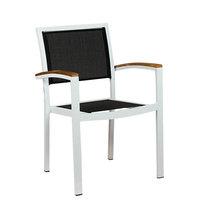 Zahradní židle - křeslo Cenon silver textilene black