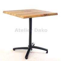 Zahradní stoly - sklopný stůl Verona black QSM 70x70cm
