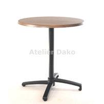 Zahradní stoly - sklopný stůl Verona black RT 70 Nut