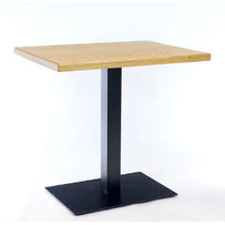 Kavárenské a restaurační stoly - stůl COME 19 QDD 80x60cm dubová dýha