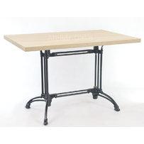 Kavárenské a restaurační stoly - stůl Dominique 2 QLTD s deskou 110x70cm Dub Bardolino přírodní