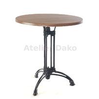 Kavárenské stoly - stůl Dominique 3RT s deskou průměr 70cm dekor Nut