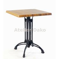 Kavárenské stoly - stůl Dominique 4 QT Classicline s deskou 60x60cm Washed Elm