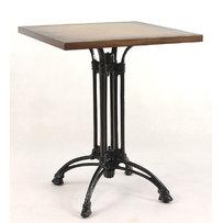 Kavárenské stoly - stůl Dominique 4QD s deskou 60x60cm Antik