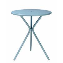 Kavárenské stoly - stůl LEO světle modrý