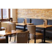 Nábytek do kavárny - židle Floriane a stoly Basic 030