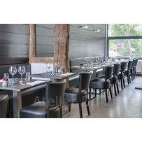 Nábytek do restaurace - židle Floriane a stoly Boxy 001 INOX