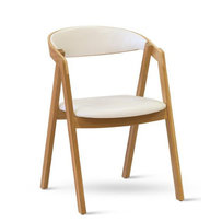 Židle - židle GURU Dub bílá ekokůže