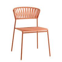 Kovové židle - židle Lisa Club terakota