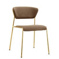 Kovové židle - židle Lisa v mosazném provedení
