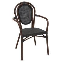Zahradní nábytek - židle - židle Lucca A wood Textilene black s područkami