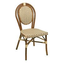 Zahradní židle - židle Lucca Dark beige/brown