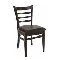 Dřevěné židle - židle PUB wenge / black 05