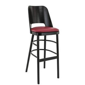 Dřevěné barové židle - barová židle Budapest BST Wenge / Bordeaux 5269