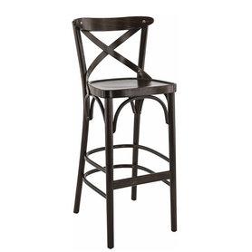 Dřevěné barové židle - barová židle Sofia BST tmavě hnědá