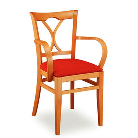 Židle - dřevěná židle Laura 811 s područkami
