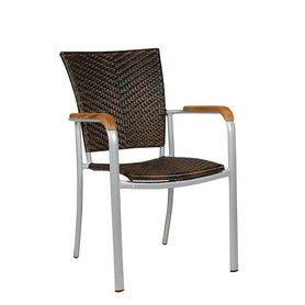 Zahradní židle - křeslo Baja Silver Leather look