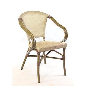 Zahradní židle - křeslo Montmartre Textylene Havana / Bamboo look