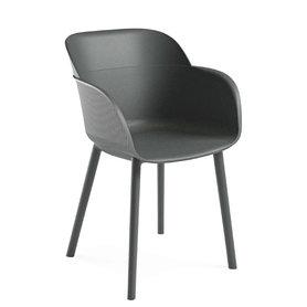 Židle - křeslo Shell wooden legs