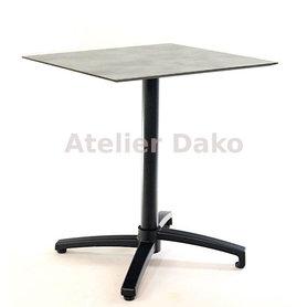 Zahradní stoly - sklopný stůl Verona black QCOM