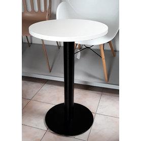 Kavárenské a restaurační stoly - stůl COME 15 RLTD s deskou Ø50cm bílá perlička