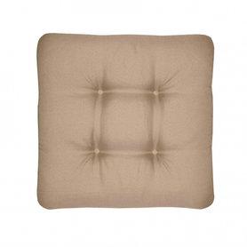 Sedáky na zahradní nábytek - univerzální sedák prošívaný světle hnědý - látka HIT UNI 7846