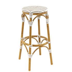Zahradní nábytek - zahradní barová židle Passy Grey/White