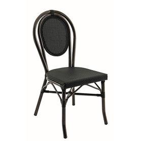 Zahradní židle - židle Paris Textylene black / bamboo look